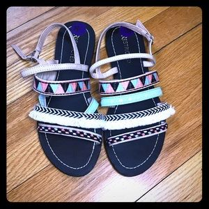 🐘 Restricted Southwestern Fabric Sandals